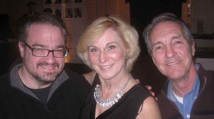 Actors Matt Witten, Lisa Ludwig, and Peter Palmisano