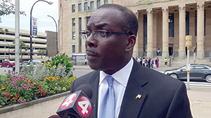 Mayor Byron Brown declines to speak with Artvoice.