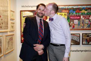 John Farina & Adam Tully @ Echo Art Fair photo by Cheryl Gorski 2