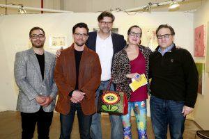 John W Bateman & John Santomieri Tim Stevens @ Echo Art Fair photo by Cheryl Gorski 2