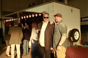 Mark Wisz & Tim Stevens by the Dream Box @ Echo Art Fair photo by Cheryl Gorski