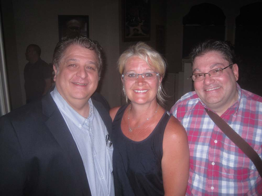 """Director Jay Desiderio with """"Looking"""" stars Tammy Reger, and Marc-Jon Filippone"""