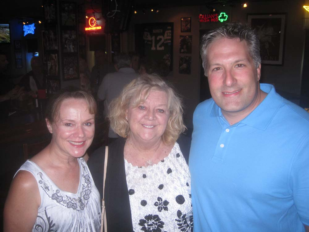 Lisa Hinca who stars as Val, with dinner theater legend Louise Reger, and co-star Don Gervasi, who plays Andy