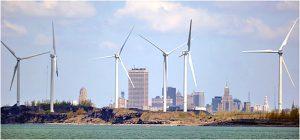 Steel Winds turbines at Bethlehem Steel site, Lackawanna