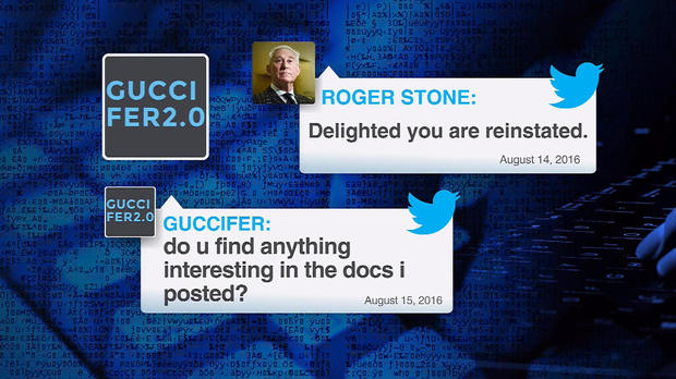 Roger Stone's innocuous call out to Guccifer 2.0 is in plain language.