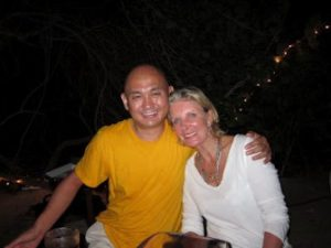 Lama Tenzin with Sara's mother Georgia Bronfman.